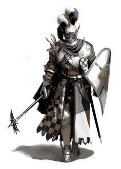 crusader hospitaller teutonic knight dsa golgarit borongeweihter -  Artstation: Jonghwan Lee