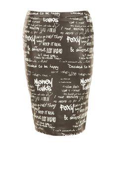 Leren kokerrok Faded | zwart  van NIKKIE op www.littlesoho.com