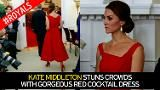 Kate Middleton stuns crowds with gorgeous red cocktail dress