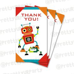 Robot Party Printable Package DIY printables by PrettyUrParty