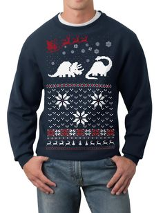 Now THIS is a tacky Christmas sweater that I'd wear. DINOSAURS. <3