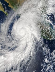 The Moderate Resolution Imaging Spectroradiometer (MODIS) instrument on NASA's Terra satellite captured an image of Hurricane Patricia, the ninth hurricane in the eastern Pacific to reach category 4 or 5 status during the 2015 season. Credit: NASA's Earth Observatory.