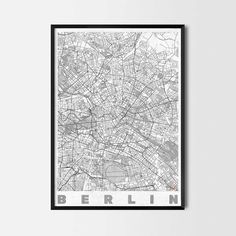 Berlin art prints - Art posters and prints of your favorite city. Unique design of a map. Perfect for your house and office or as a gift.