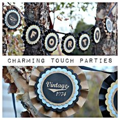 40th Birthday banner by Charming Touch by CharmingTouchParties