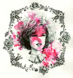 Molly Ringwald portrait : Gallery 1988's John Hughes tribute show - Nicole Guice