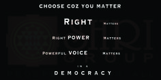#SHRI Group In  a Democracy Vote matters!!