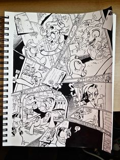 Sapphire Ng | Pencilling & Inking by Sapphire Ng. 9x12 Inch. Scene from My Little Pony: Friendship Is Magic, Issue #4