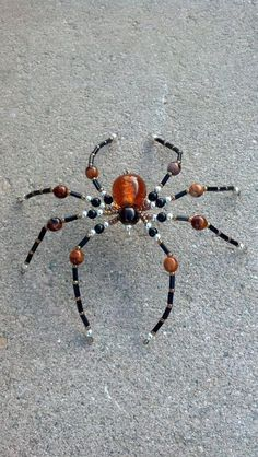 large beaded spider by Natjerm on Etsy, $12.00