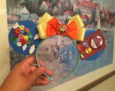 Handmade Mickey ears with Pixar's Up theme