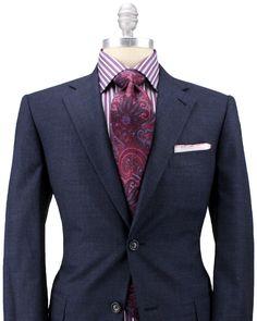 Belvest - Blue Mini Check Suit