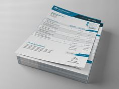 Business Invoice Template by themefisher on Creative Market