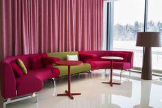 Point sofa, design: Fredrik Mattson | Centrum table, design: Sandin & Bülow