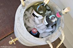 DIY Concrete Beverage Cooler