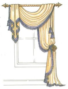 Silk curtains look expensive, but they really are very affordable. Most of us tend to associate silk with richness, and at one time that was certainly the case. Small Window Curtains, Curtains And Draperies, Luxury Curtains, Elegant Curtains, Home Curtains, Beautiful Curtains, Curtains Living, Valances, Drapery Styles