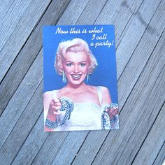 Marilyn Monroe Retro 1950s Party Invitations  by MintysMercantile