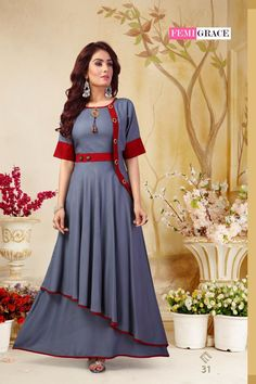 Women's kurtis online: Buy stylish long & short kurtis from top brands like BIBA, W & more. Explore latest styles of A-line, straight & anarkali kurtas. Kurta Designs Women, Kurti Neck Designs, Dress Neck Designs, Kurti Designs Party Wear, Designs For Dresses, Printed Kurti Designs, Long Kurta Designs, Kurti Sleeves Design, Long Gown Dress