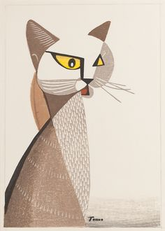 Inagaki Tomoo, A cat, ca. 1969