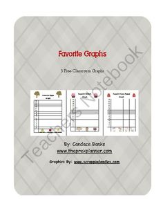 Favorite Graphs from The Pre-K Planner on TeachersNotebook.com -  (5 pages)  - 3 Free Graphs to be used in a group setting or individually