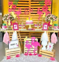 Pink Flamingo Party, Flamingo Birthday, Luau Birthday, Birthday Parties, Festa Party, Luau Party, Deco Buffet, My Pool, Tropical Party