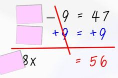 Best way to teach 2-step equations -  simple idea that makes so much sense!