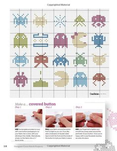 Designer Cross Stitch Projects: Over 100 Colorful and Contemporary Patterns (Design Originals) Tiny Cross Stitch, Cross Stitch For Kids, Modern Cross Stitch, Cross Stitch Designs, Cross Stitch Patterns, Cross Stitching, Cross Stitch Embroidery, Nerd Crafts, Knitting Charts