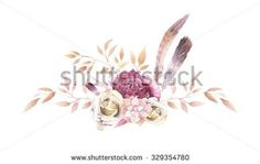 Find Watercolor Vintage Floral Composition Gold Pink stock images in HD and millions of other royalty-free stock photos, illustrations and vectors in the Shutterstock collection. Pink Flower Bouquet, Floral Bouquets, Pink Flowers, Vintage Floral Tattoos, Floral Vintage, Boho Chic, Flower Tattoos, Floral Watercolor, Peonies