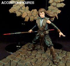 """Dark Side Rey (6"""" Black Series) (Star Wars) Custom Action Figure"""