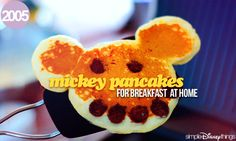 when i was little my mom would make these but then i would refuse to eat mickey!