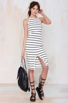 The Fifth Don't Panic Striped Midi Dress - Clothes | Midi + Maxi | Day | Body-Con