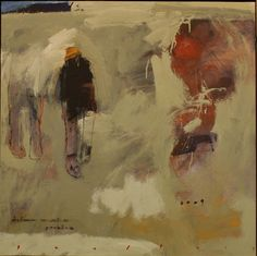Chris Gwaltney at Seager Gray Gallery showing Distance an abstract figurative oil painting in Mill Valley California San Francisco Bay Area