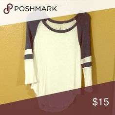 Long sleeve blue top Great quality. Has high cuts on both sides of hip. Great to pair with leggings. Very soft sheer material. Slightly SEE through but not overwhelming. Tops Tees - Long Sleeve