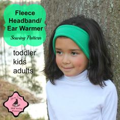 On Sale Whimsy Couture Sewing Pattern/Tutorial ebook --Headband/Ear Warmer-- toddler through adult PDF INSTANT Sewing Patterns For Kids, Sewing Projects For Kids, Sewing For Kids, Sewing Ideas, Fleece Projects, Baby Patterns, Sewing Tips, Warm Headbands, How To Make Headbands