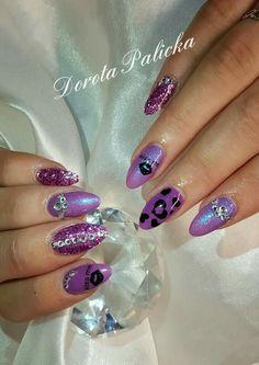 Purple love  #dorotapalicka #purplenails  #nails #nailart #nailtraining #glitter #bluenailpigment