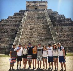 Chichen Itza Mayan Pyramid- 7 wonders of the world, Yucatan Peninsula, Cancun, Mexico Mexico Destinations, Travel Destinations, Cancun Mexico, Mexico Travel, Snorkeling, Wonders Of The World, Palm Trees, Places To Visit, Road Trip Destinations