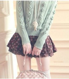 If the skirt was longer....but I love that sweater!!