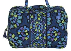 Best Makeup Bag | Vera Bradley Grand Cosmetic in Indigo Pop *** Learn more by visiting the image link.(It is Amazon affiliate link) #likeall