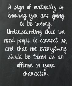 What maturity is. #knowing