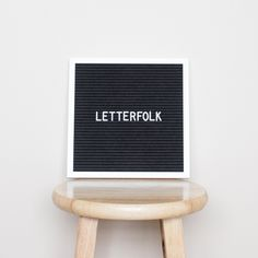 """Letterfolk 10"""" x 10"""" black felt letter board is the perfect accent piece for any home or photo."""