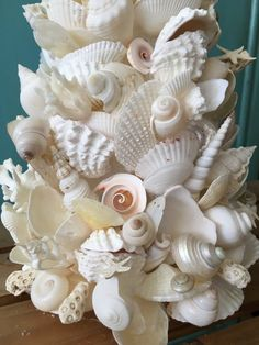 Please NOTE processing times in listing info Handmade SET of Christmas Tree Set, Beach Christmas, Coastal Christmas, Christmas Wreaths, Christmas Crafts, Christmas Decorations, Xmas Trees, Christmas Ideas, Seashell Painting