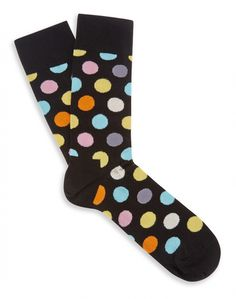 Happy Socks with Big Dot print I Just Need You, Cute Fashion, Fashion Ideas, Connect The Dots, Black Socks, Happy Socks, Its Cold Outside, Girly Girl, Polka Dots