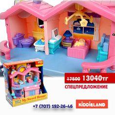 """Kiddieland Музыкальный """"Домик мечты""""   🏡Игровой развивающий центр """"Домик мечты"""" выполнен в приятных розово-сиреневых цветах и очень понравится маленькой девочке. В домике много свето-звуковых эффектов, есть предметы мебели, аксессуары и 2 фигурки человечков (мальчик и девочка).   🏡С Домиком мечты Ваша малышка сможет придумать множество различных сюжетно-ролевых игр. Домик мечты - это красивый, уютный двухэтажный домик, в комнатах которого таится множество приятных сюрпризов: яркие…"""