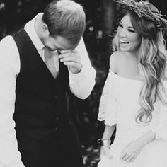 We don't often share black and white pictures, but we thought this candid shot of Devin & Kyle was particularly special.  Hit the link in the bio to see their beautiful wedding by @jessiehollowayphotography  #love #wedding #laughter #bride #groom #romance #bmloves #bridemusings