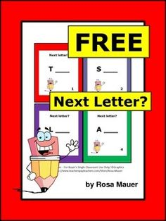 Alphabet FREE task cards will be a great addition to your classroom. There is a capital letter on each card. Students are to write the letter that comes next in the alphabet. A response form for students and an answer key for the teacher are provided.