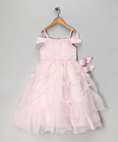 Take a look at this Tip Top Kids Pink Sheer Ruffle Dress - Toddler & Girls by Tip Top Kids on #zulily today!