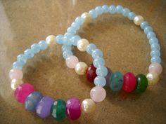Mother Daughter Bracelets Shabby Chic Bracelets by Poshracrafts