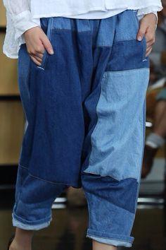 By Comme des Garçons 2013 - Denim, Jeans, Patchwork, drop crotch, casual, fashion, style, look