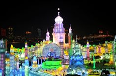 Majestic Ice Sculptures From The Harbin International Ice And SnowFestival - Heilongjiang, China