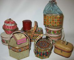19th paper box and basket candy container ornaments