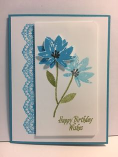 Avant-Garden and Delicate Details Birthday Card
