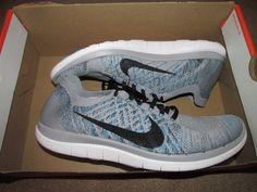 Nike Free 4.0 Flyknit Mens Running Shoes 11 Wolf Grey Black 717075 010 #Nike #RunningCrossTraining